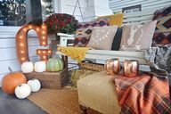 Cozy rustic fall fro