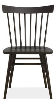 kitchen chairs | thatcher side chair - solid maple with ebony stain | room and board $300