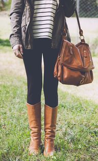 leggings and boots,