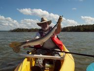 Kayak fishing at its