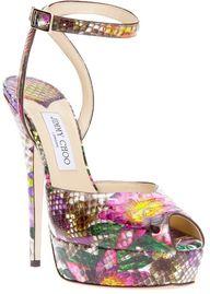 Jimmy Choo ~ Floral Print Sandal