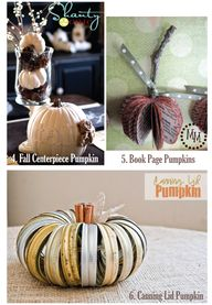 10 DIY pumpkin ideas