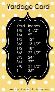 Yardage Card - I use
