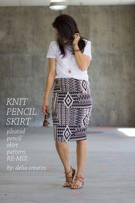 Knit Pencil Skirt Pa