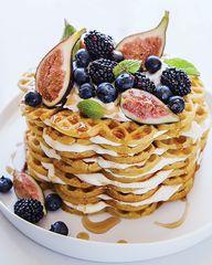 Cardamom Waffle Cake