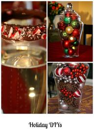 DIY holiday centerpi