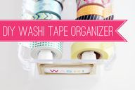 55DIY Washi Tape Org