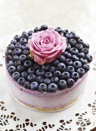 Blueberry Ice Cream Cheesecake.