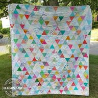 triangle quilt by je