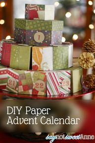 DIY Paper Advent Cal
