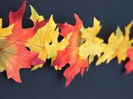 DIY Fall Leaves Garl