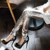 $75.74 silver trouser from zzkko.com
