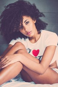 Natural curly afro h...