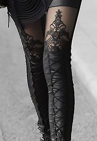 Lace up tights