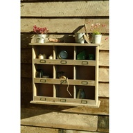 Wooden Cubby Shelf |