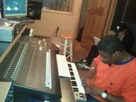 in the studio with B