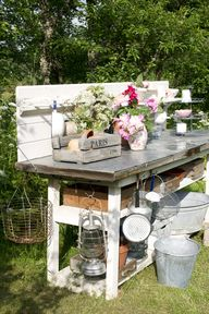 Rustic Potting Bench