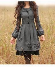Grey winter dress co