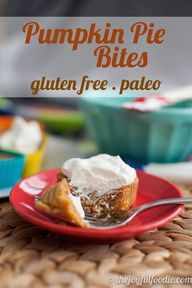 Pumpkin Pie Bites -