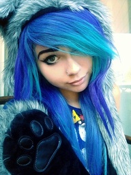 electric blue hairElectric Blue Hair