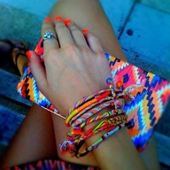 Colorful bracelets!...