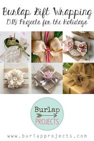 Burlap Gift Wrapping