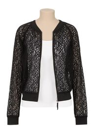 Lace zip front baseb