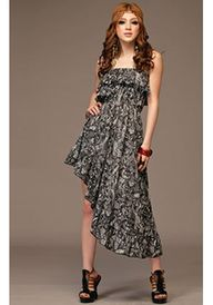 QUBE High-Low Tube Maxi Dress