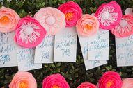pink paper flower es