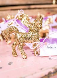 Gold glitter unicorn...