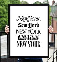 NY typography poster