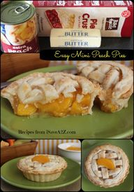 Easy Mini Peach Pie