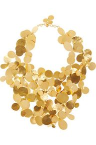 Hammered gold-plated