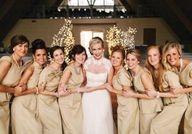 Bridesmaids in custo...