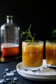 Peach-rosemary bourb