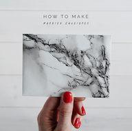 DIY Marbled Envelope