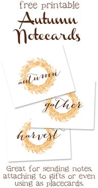 Free Printable Autum