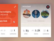 Link cards UI by Mar