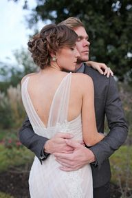 #wedding gown with sheer straps | Vine & Light