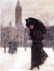 Woman in the Snow -