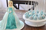 Elsa Frozen cake pop