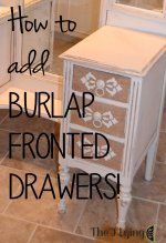 How to add burlap fr