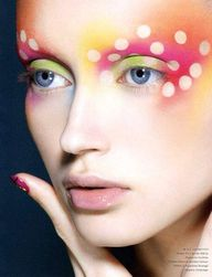 rainbow colored brow