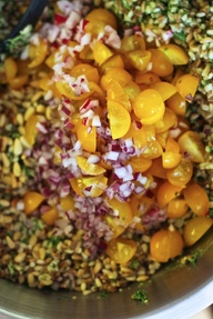Three grain salad of