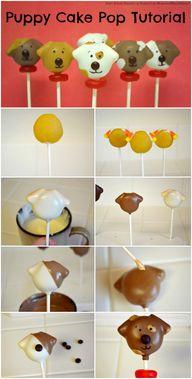 Puppy Cake Pops Tuto