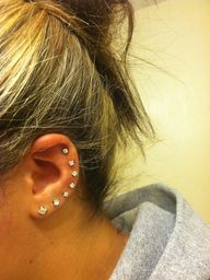 Ear piercings.