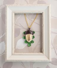 Leather Acorn Neckla
