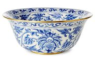 "15"" Vine Bowl, Blue/"