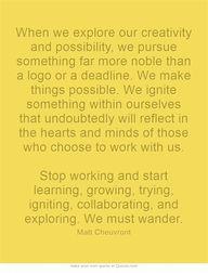We Must Wander