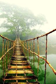 Across the bridge in